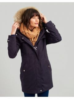 Dames-Winterparka-Joules-Aspen-Navy-zonder-model
