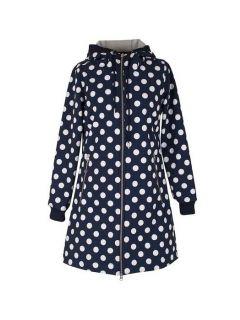 Regenjas-Softshell-Danefae-Jane-navy-offwhite-dots-voorkant
