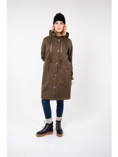 Danefae-Winterparka-Dames-Lisbeth-Army-Groen-modelvoor