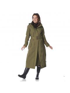 Dames-Regenjas-Happy-Rainy-Days-extra-lang-Oprah-groen-voorkant