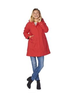 dames-regenjas-happy-rainy-days-a-line-rosa-model voorkant