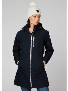 HellyHansen-Winter-Regenjas-Dames-WLong-Belfast-Blauw-model
