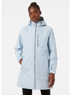 HellyHansen-Winter-Regenjas-Dames-WLong-Belfast-Lichtblauw-model