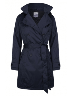 Dames-regentrenchcoat-Happy-Rainy-Days-Marocco-midnight-satin-padded-voorkant