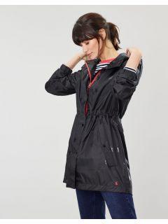 joules-GoLightly-Opvouwbare-Regenjas-Dames-Zwart-Glossy-Ster-modeldicht