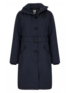Dames-winterparka-Happy-Rainy-Days-twill-padded-Miami-midnight-voorkant