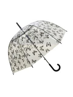 Paraplu-Vlinders-Transparant-Smati-uitgeklapt